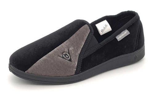 Dunlop - Winston Black / Grey Slippers